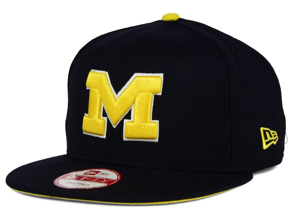 Michigan Wolverines New Era NCAA Core 9FIFTY Snapback Cap  0de2d7e3abba