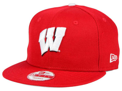 Wisconsin Badgers New Era NCAA Core 9FIFTY Snapback Cap