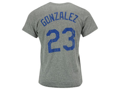 Los Angeles Dodgers Adrian Gonzalez Majestic MLB Men's Triblend Jersey Player T-Shirt