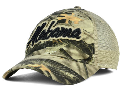 Alabama Crimson Tide NCAA Lost Camo Script Trucker Hat