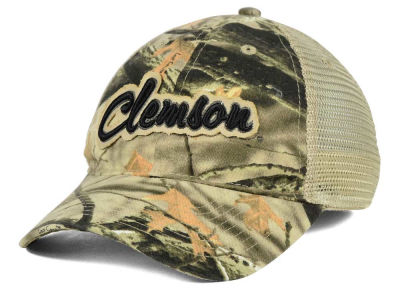 Clemson Tigers NCAA Lost Camo Script Trucker Hat
