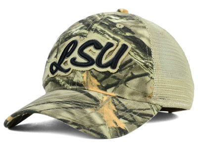 LSU Tigers NCAA Lost Camo Script Trucker Hat