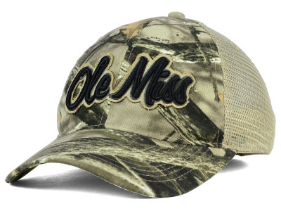Ole Miss Rebels NCAA Lost Camo Script Trucker Hat