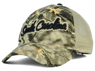 South Carolina Gamecocks NCAA Lost Camo Script Trucker Hat