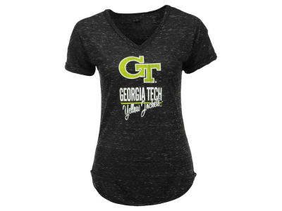 Georgia-Tech Blue 84 NCAA Women's Confetti V-Neck T-Shirt