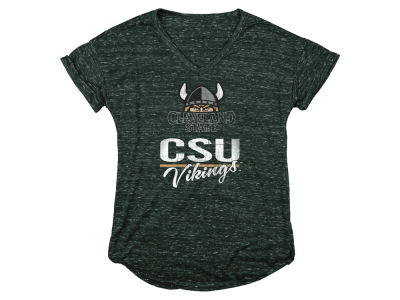 Cleveland State Vikings Blue 84 NCAA Women's Confetti V-Neck T-Shirt