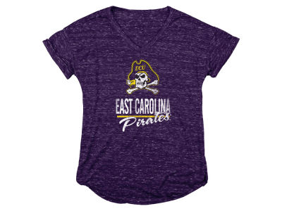 East Carolina Pirates Blue 84 NCAA Women's Confetti V-Neck T-Shirt