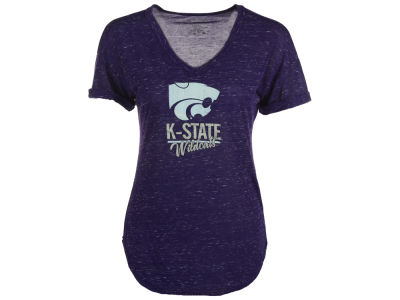 Kansas State Wildcats Blue 84 NCAA Women's Confetti V-Neck T-Shirt