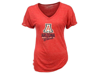 Arizona Wildcats Blue 84 NCAA Women's Confetti V-Neck T-Shirt