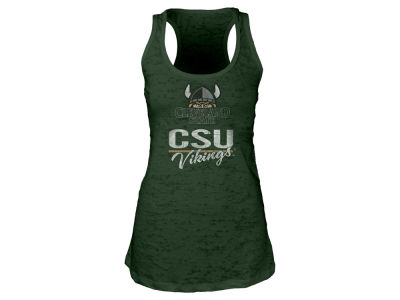 Cleveland State Vikings Blue 84 NCAA Women's Racerback Burnout Tank