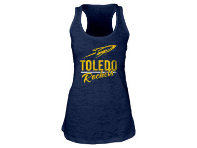 Toledo Rockets Blue 84 NCAA Women's Racerback Burnout Tank