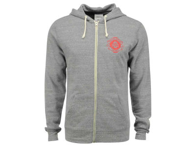 Ohio State Buckeyes NCAA Men's Vintage Triblend Full Zip Hoodie