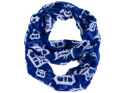 Detroit Tigers All Over Logo Infinity Wrap Scarf