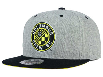 Columbus Crew SC Mitchell and Ness MLS Heather Fitted Cap