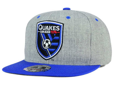San Jose Earthquakes Mitchell and Ness MLS Heather Fitted Cap