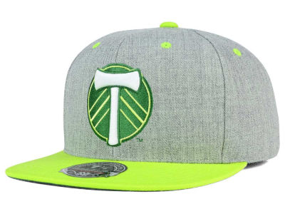 Portland Timbers Mitchell and Ness MLS Heather Fitted Cap