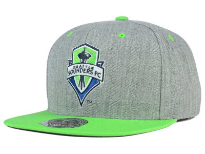 Seattle Sounders FC Mitchell and Ness MLS Heather Fitted Cap