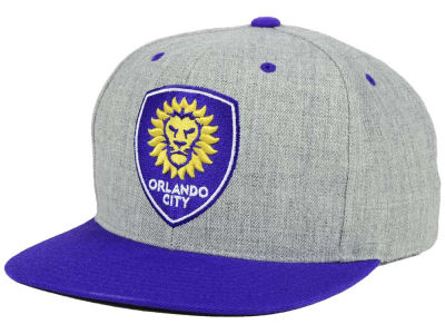 Orlando City SC Mitchell and Ness MLS Heather Fitted Cap