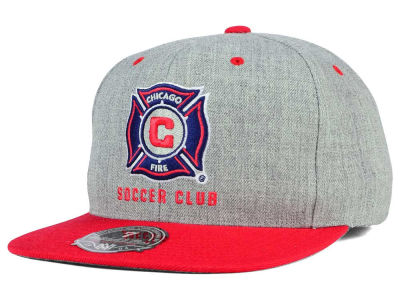 Chicago Fire Mitchell and Ness MLS Heather Fitted Cap