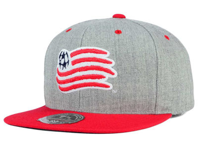 New England Revolution Mitchell and Ness MLS Heather Fitted Cap