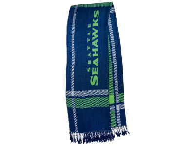 Seattle Seahawks Plaid Pashmina Scarf