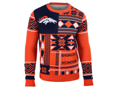 Denver Broncos La Tilda NFL Men's Patches Ugly Sweater