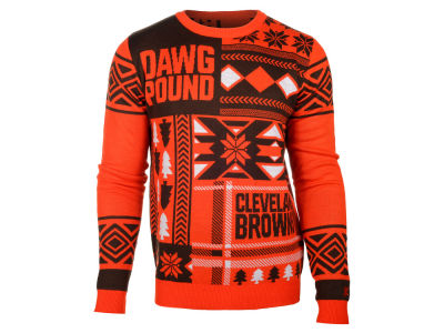 Cleveland Browns La Tilda NFL Men's Patches Ugly Sweater