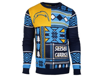 San Diego Chargers La Tilda NFL Men's Patches Ugly Sweater
