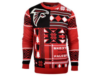 Atlanta Falcons La Tilda NFL Men's Patches Ugly Sweater