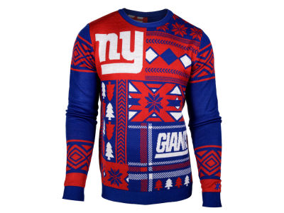 New York Giants La Tilda NFL Men's Patches Ugly Sweater
