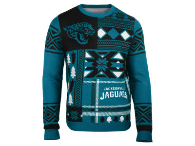 Jacksonville Jaguars La Tilda NFL Men's Patches Ugly Sweater