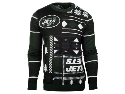 New York Jets La Tilda NFL Men's Patches Ugly Sweater