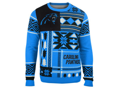 Carolina Panthers La Tilda NFL Men's Patches Ugly Sweater