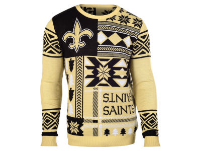 New Orleans Saints La Tilda NFL Men's Patches Ugly Sweater
