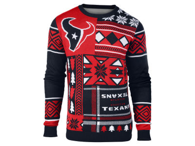 Houston Texans La Tilda NFL Men's Patches Ugly Sweater