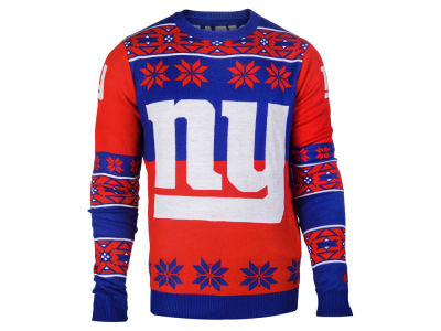 New York Giants La Tilda NFL Men's Big Logo Ugly Sweater