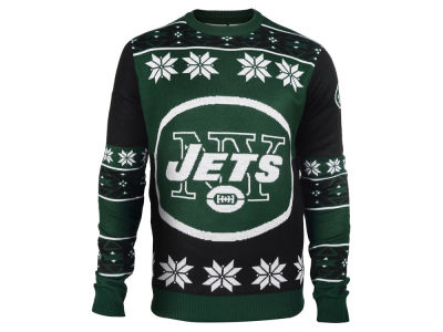 New York Jets La Tilda NFL Men's Big Logo Ugly Sweater