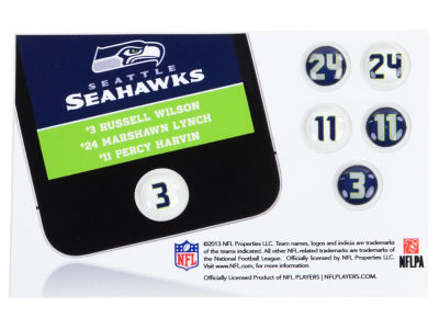 Seattle Seahawks Fat Dots 6pk