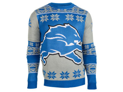 Detroit Lions La Tilda NFL Men's Big Logo Ugly Sweater