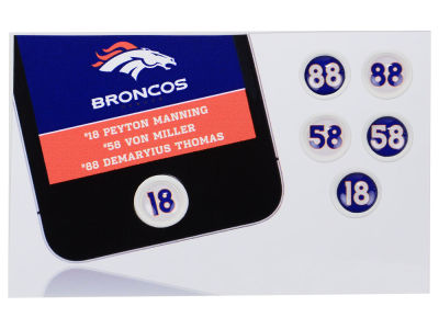 Denver Broncos Fat Dots 6pk