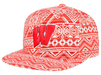 Wisconsin Badgers Top of the World NCAA Montezuma Snapback Cap