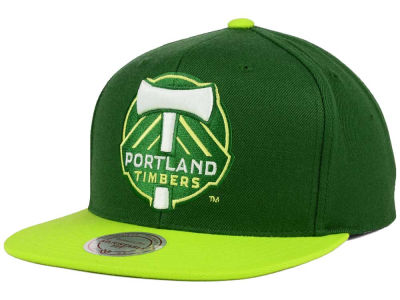 Portland Timbers Mitchell and Ness MLS 2 Tone XL Snapback Cap
