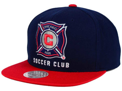 Chicago Fire Mitchell and Ness MLS 2 Tone XL Snapback Cap