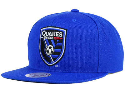 San Jose Earthquakes Mitchell and Ness MLS Basic Snapback Cap