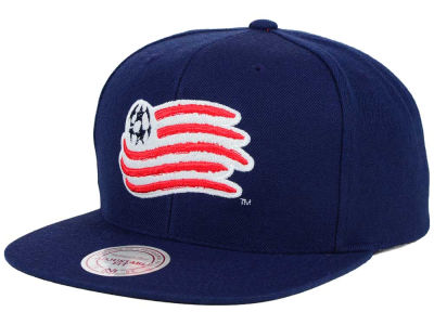 New England Revolution Mitchell and Ness MLS Basic Snapback Cap