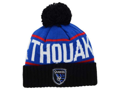 San Jose Earthquakes Mitchell and Ness MLS Pom Knit