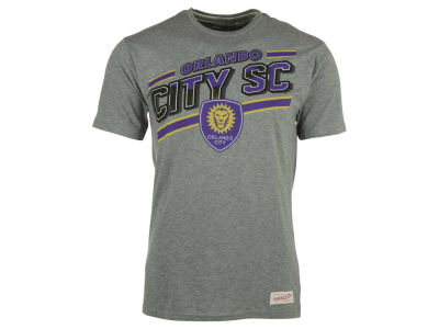 Orlando City SC Mitchell and Ness MLS Men's Jersey Stripe Tailored T-Shirt