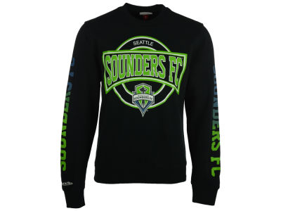 Seattle Sounders FC Mitchell and Ness MLS Men's Down To The Wire Crew Sweatshirt