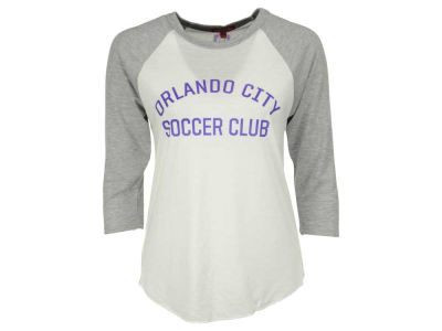 Orlando City SC Mitchell and Ness MLS Women's Team Issued Raglan 3/4 Sleeve T-Shirt