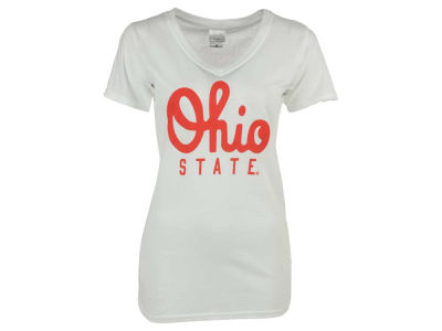 Ohio State Buckeyes NCAA Women's Script V-Neck T-Shirt